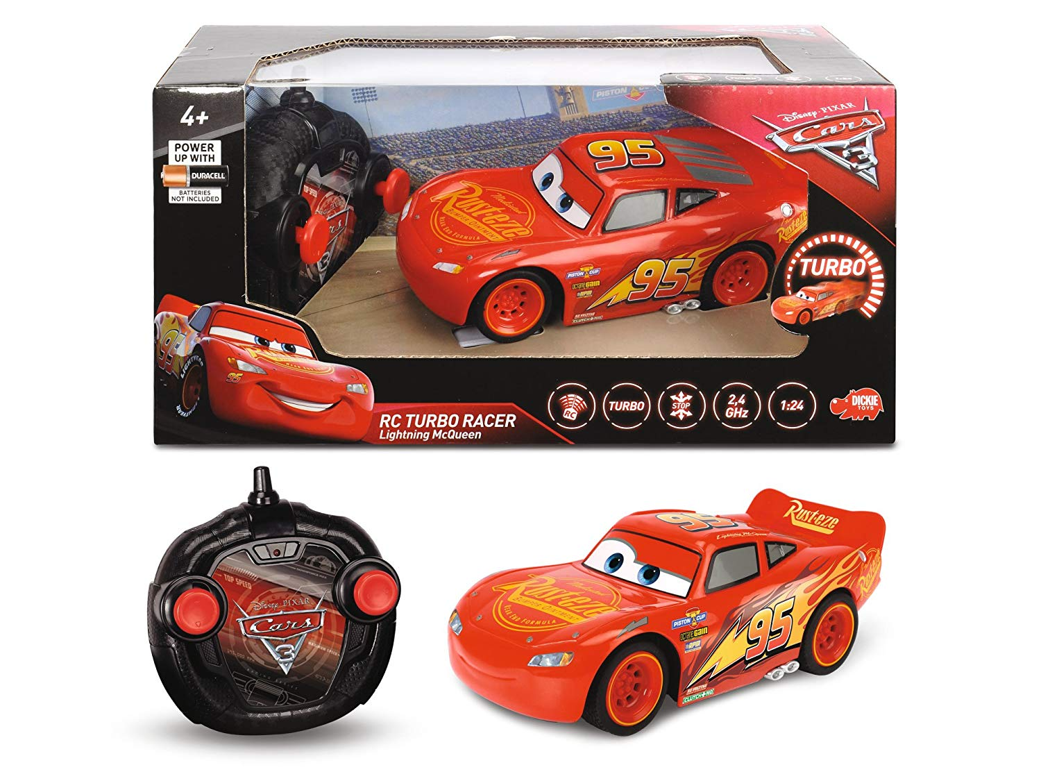 COCHE TURBO RACER 1:24 CARS 3 RADIO CONTROL 3084003