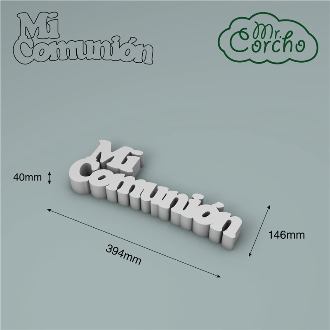 FRASE MI COMUNION 400X40MM