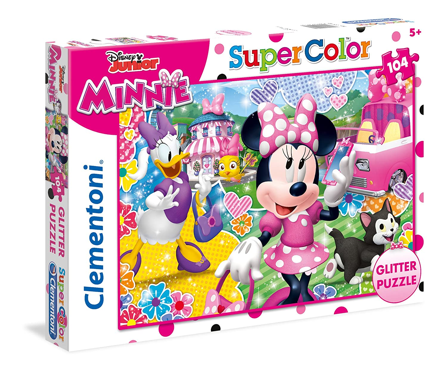 PUZZLE 104 GLITER MINNIE HAPPY 20146