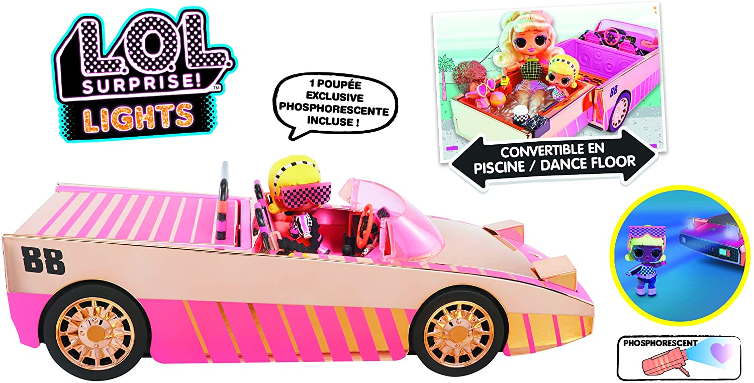 LOL CAR POOL COUPE CON MUÑECA LLUB7000