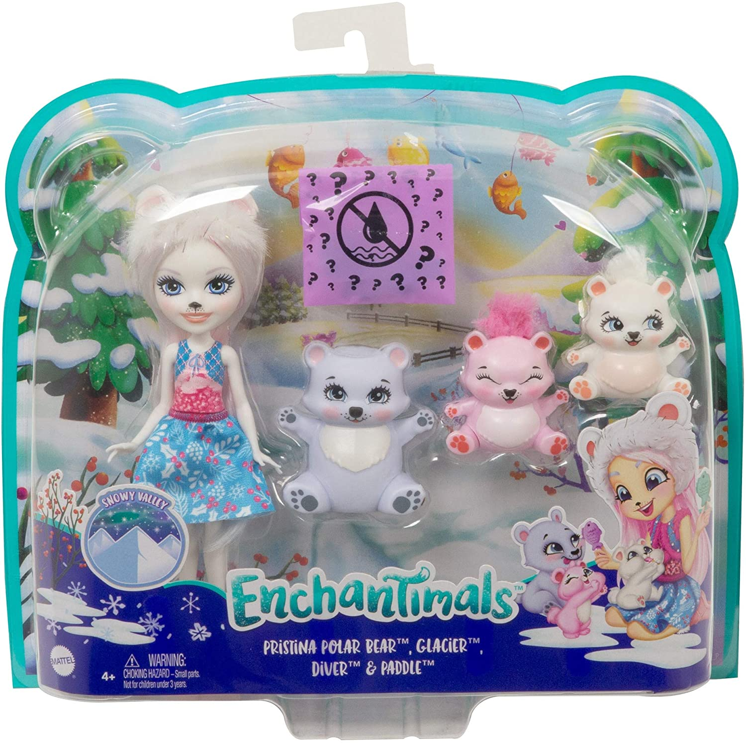 ENCHANTIMALS PRISTINA OSO POLAR Y FAMILIA GJX47