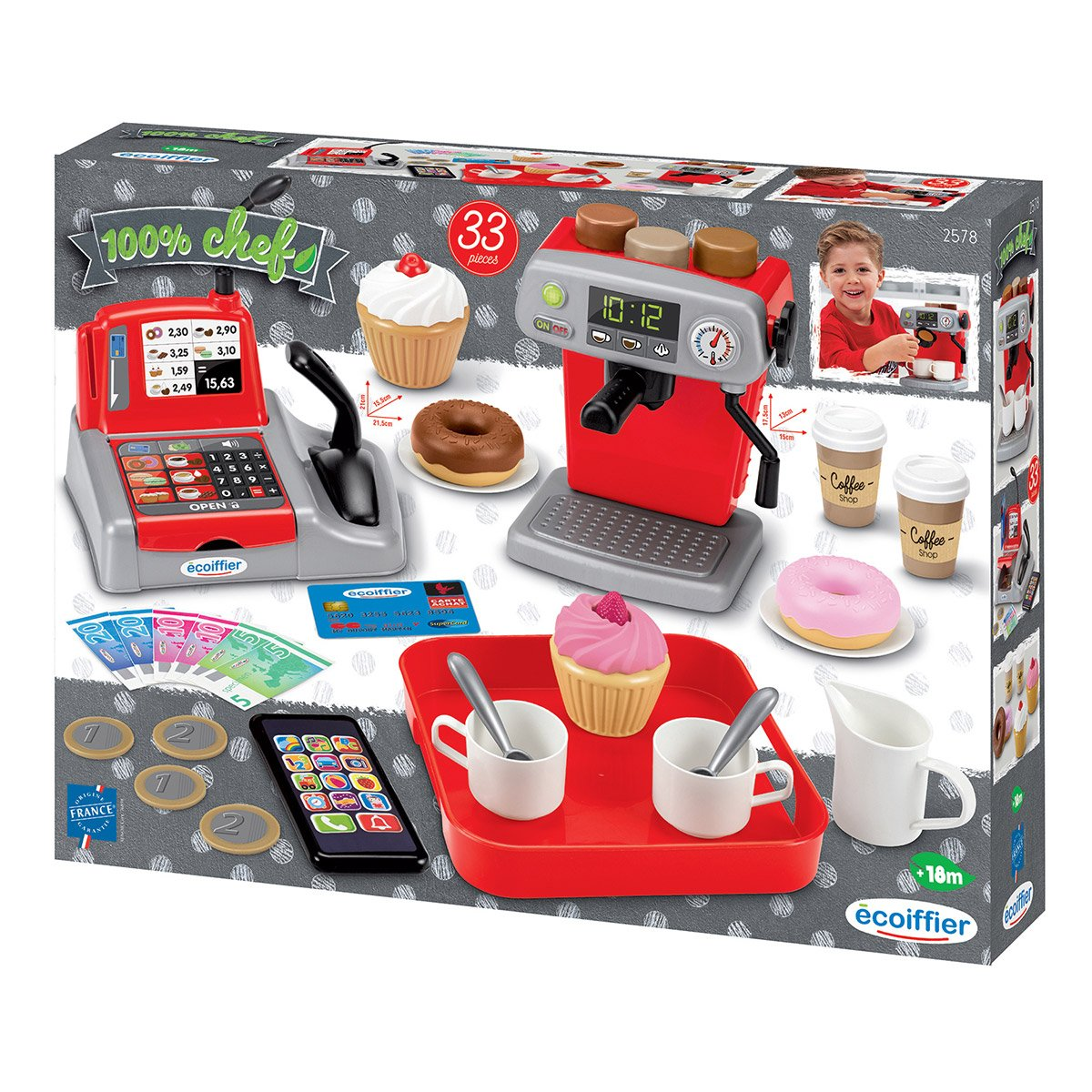 SET COFFEE SHOP 100% CHEF 2578