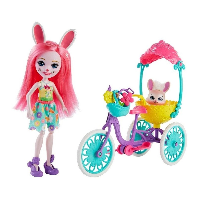 MUÑECA ENCHANTIMALS BUNNY CON TRICICLO FWC56