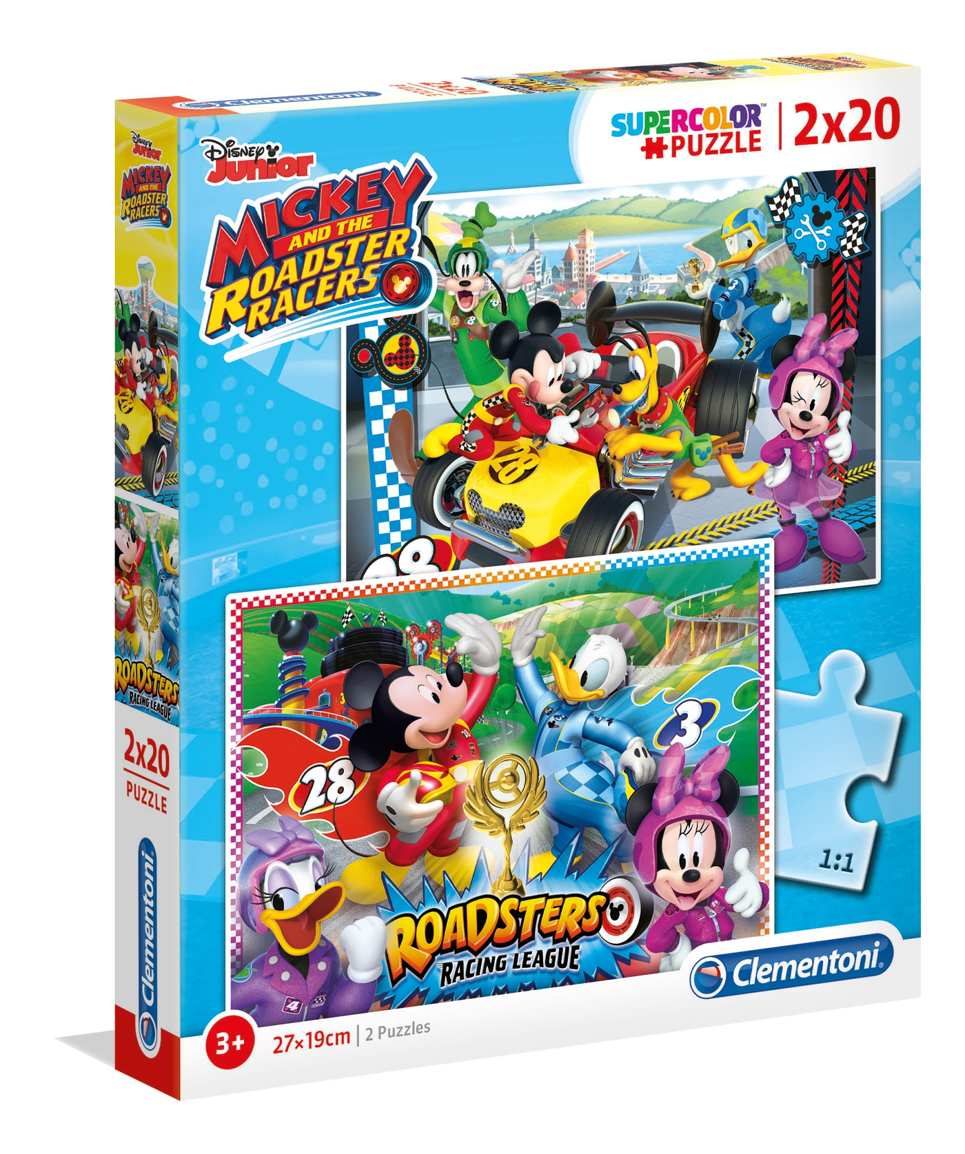 PUZZLE 2X20 MICKEY ROADSTER RACERS 07034