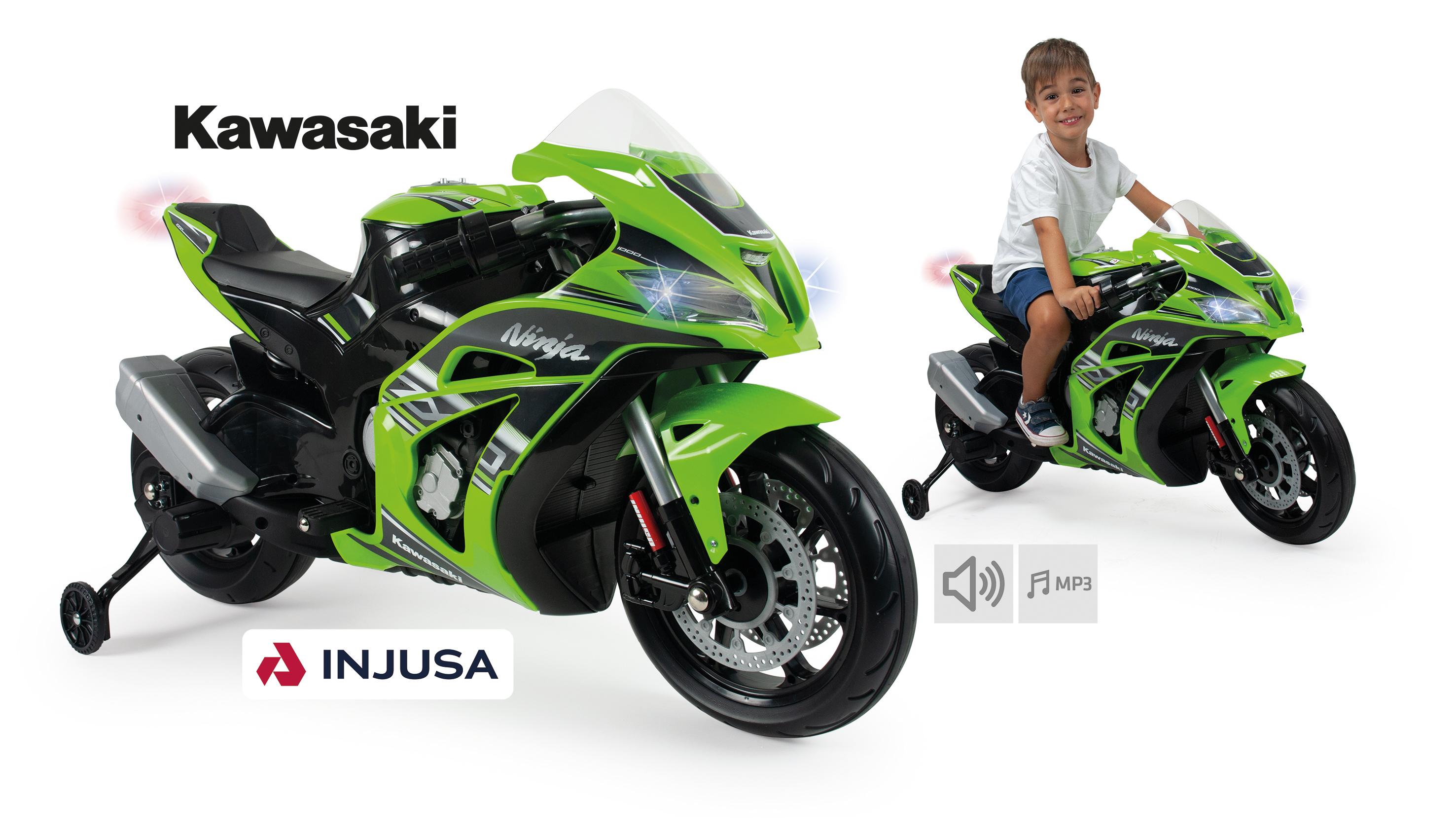 MOTO KAWASAKI ZX10 12V LUCES Y SONIDO 6495 - N59820
