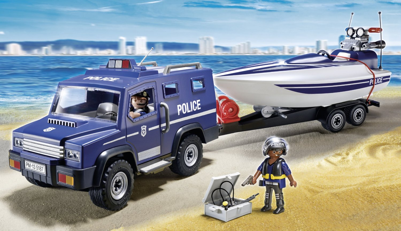 COCHE DE POLICIA CON LANCHA 5187 - V47320
