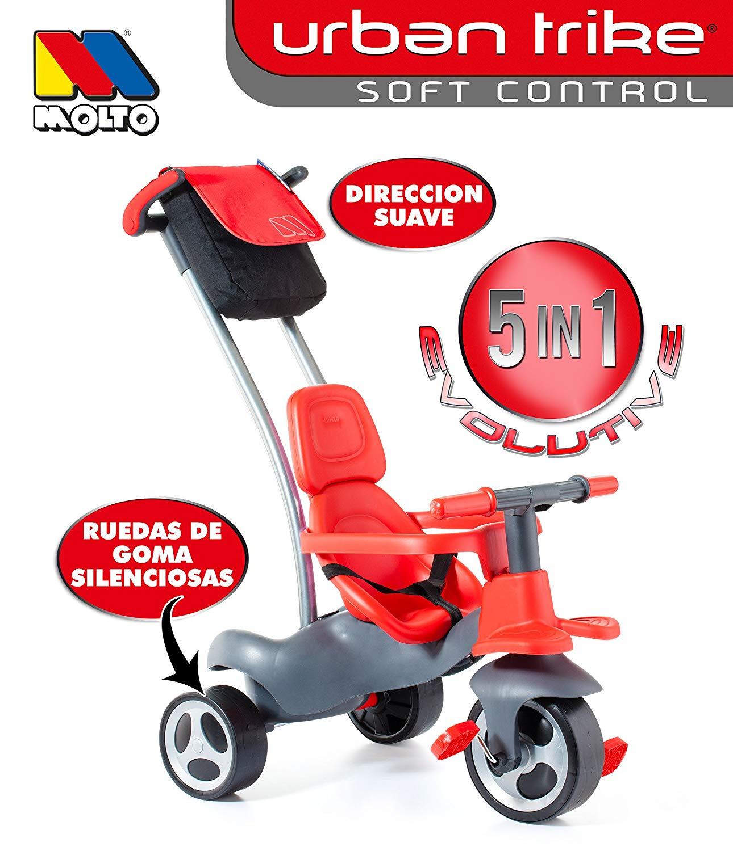 TRICICLO RUEDA DE GOMA CON CINTURON Y BOLSA 17200 - N73020