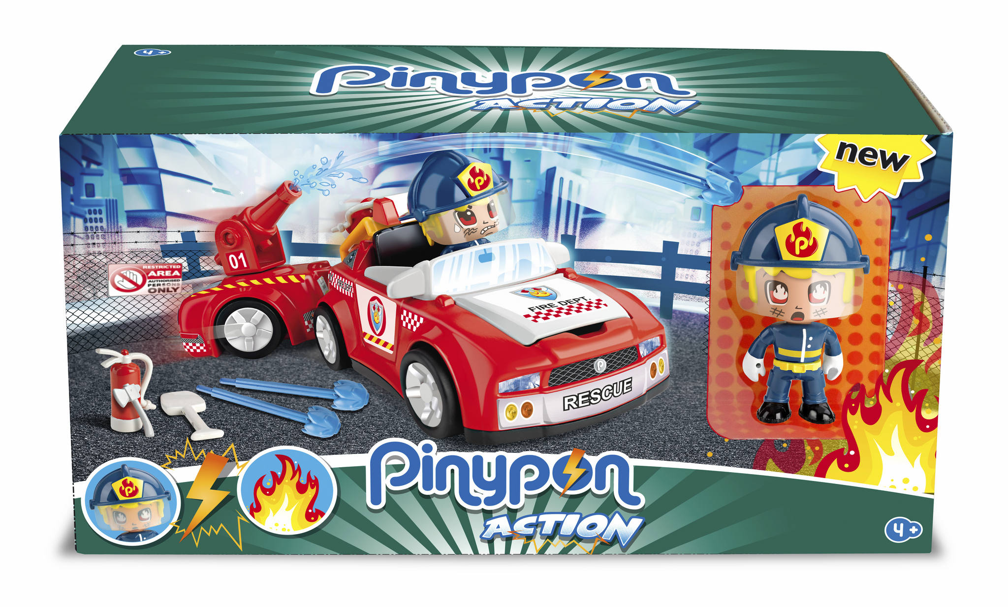 PINYPON ACTION SUPER FIREMAN ACTION VEHI.14610 - V19719