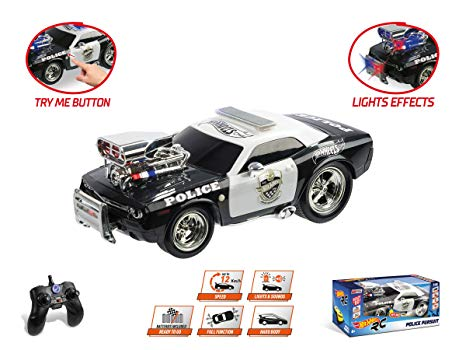 COCHE R/C HOT WHEELS POLICIA 63505 - N16619
