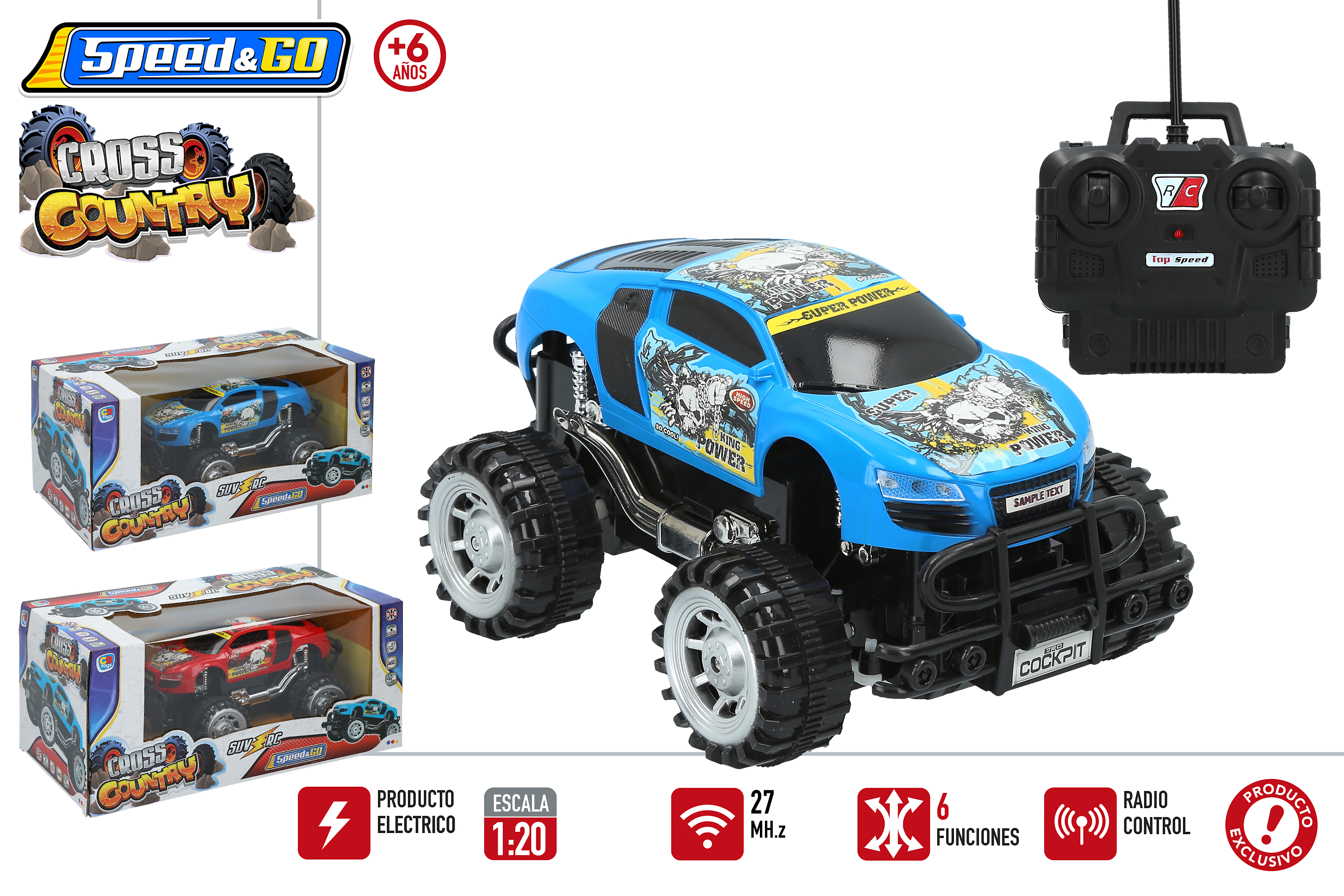 COCHE R/C 1:20 CROSS COUNTRY 43839 - V31619