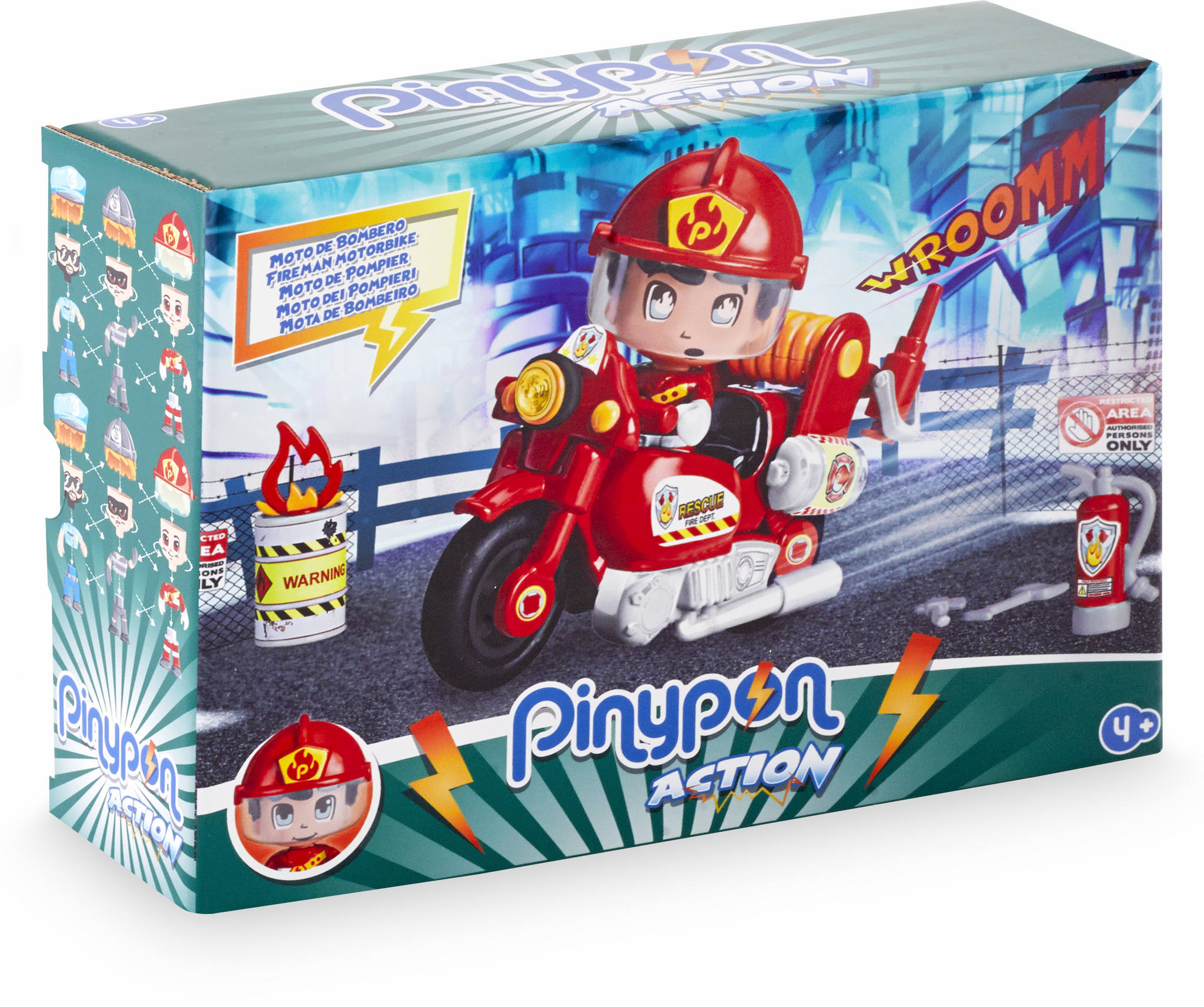 PINYPON ACTION MOTO DE BOMBEROS 14783