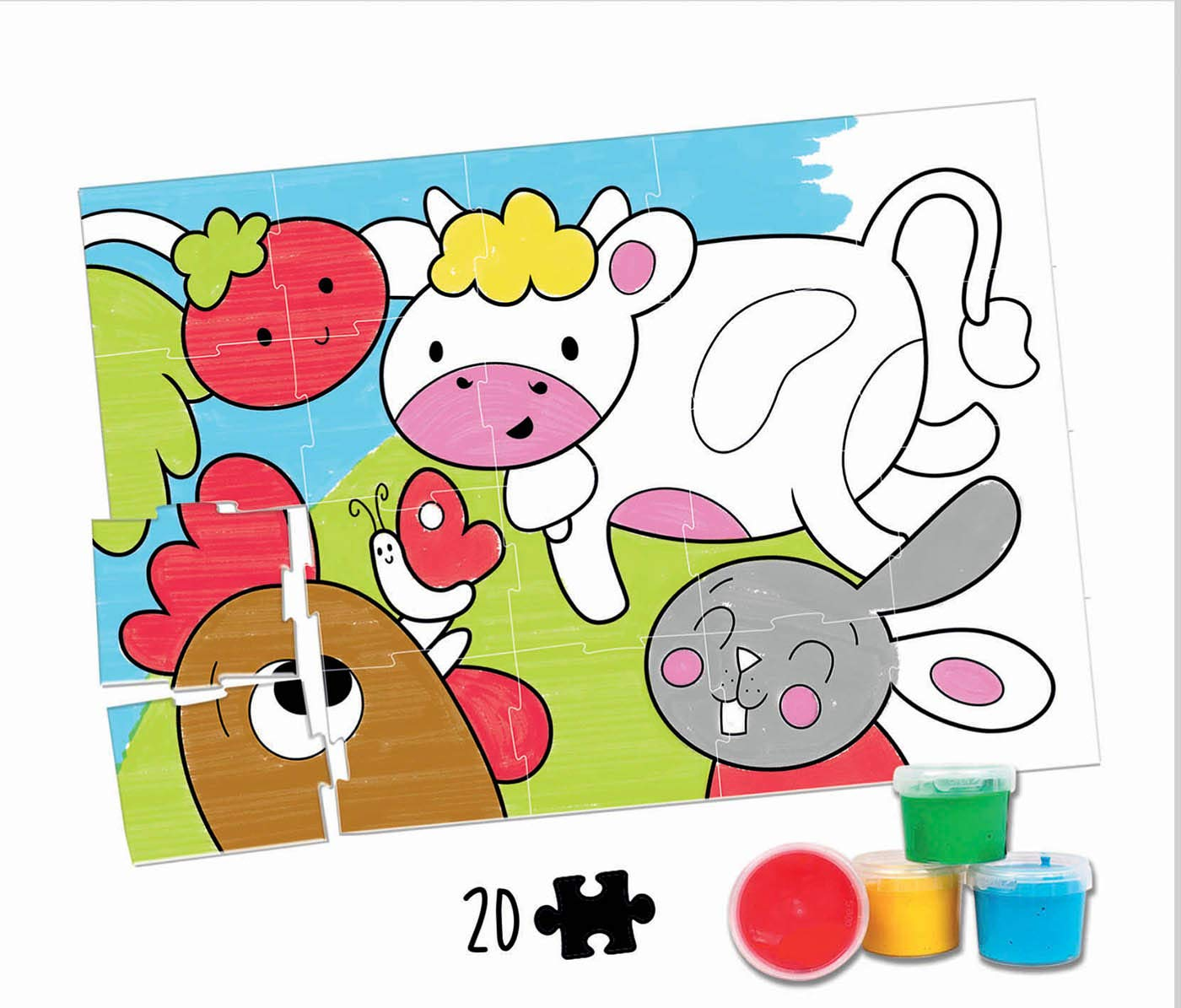 20 ANIMALES DE LA GRANJA COLOURING ACTIVITY 18209