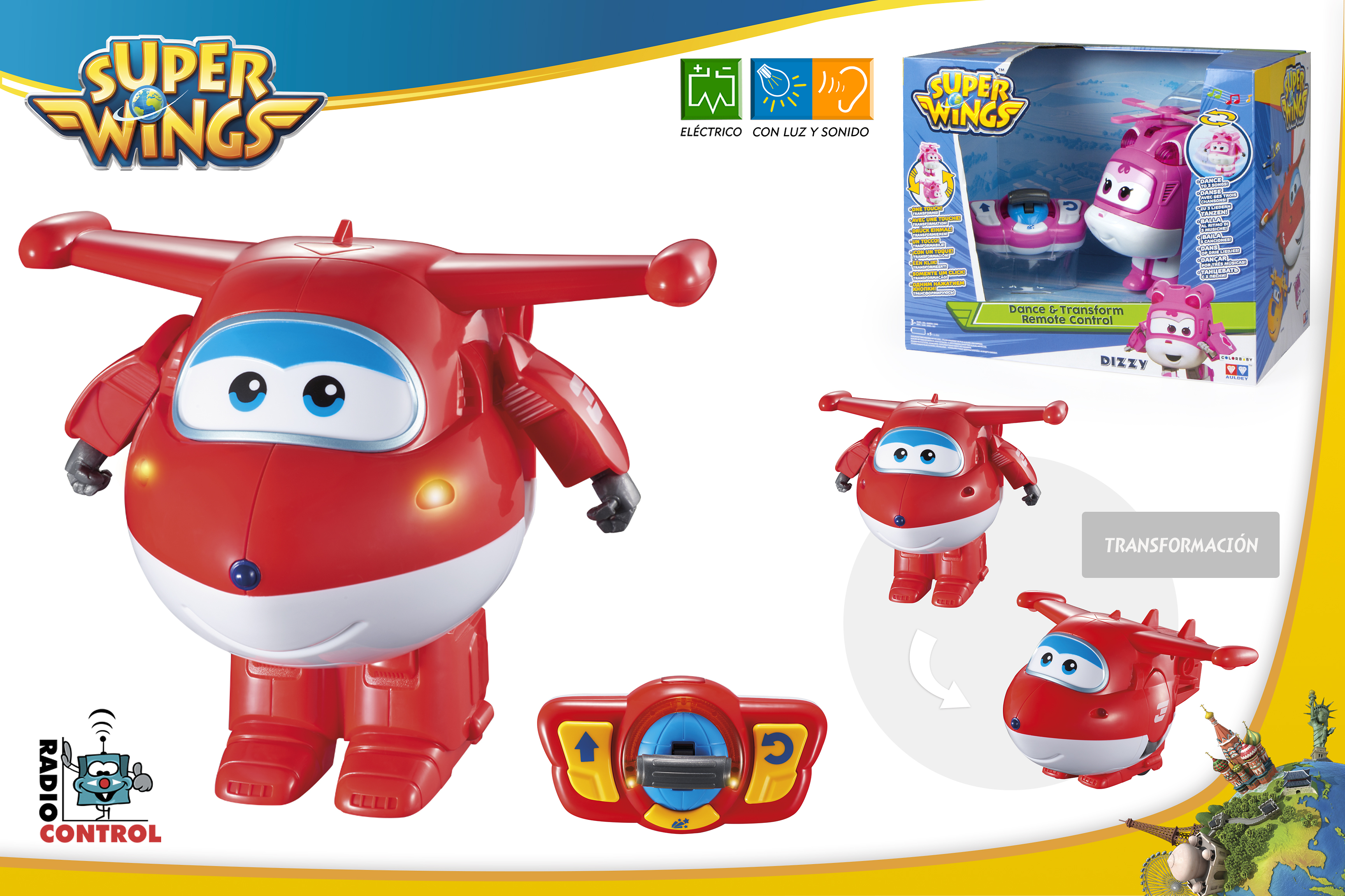 SUPERWINGS JETT TRANSFORMABLE RADIO CONTROL 43964 - N88919